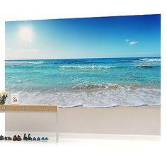 Strand-Szene Fototapete Tropischer Seestück Tapete Schlafzimmer Haus Dekor