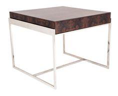 The Berkeley Glazed Walnut and Chrome Wide Side Table