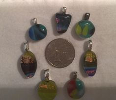 A personal favorite from my Etsy shop https://www.etsy.com/listing/229571193/fused-glass-pendants  $12 each