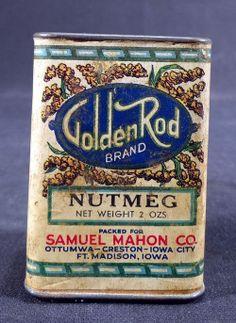 Goldenrod Brand Nutmeg Spice Tin