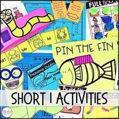 Short Vowel i Phonics Activities and Games for 1st Grade o