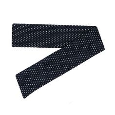 Navy Blue Polka Dot Print, Headband with Tails