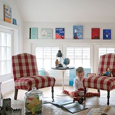 Favorite bedtime stories make instant art in kids' spaces.