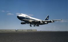 BOAC 747-100, April 25, 1971  The British Overseas Airways Corporation (BOAC), the airline now known as British Airways, operates its first Boeing 747 flight between London Heathrow and New York.