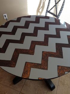 Chevron kitchen table DIY