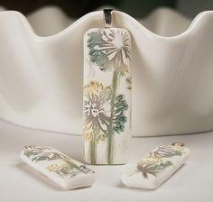Stamped Flower Rectangle Pendant Set | Flickr - Photo Sharing!