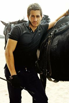 Jake Gyllenhaal the hottest man alive!! I love horses as well so this is PERFECTION!
