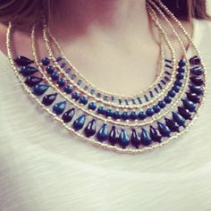 gorgeus bib necklace via @/Vahife-Boutique in facebook