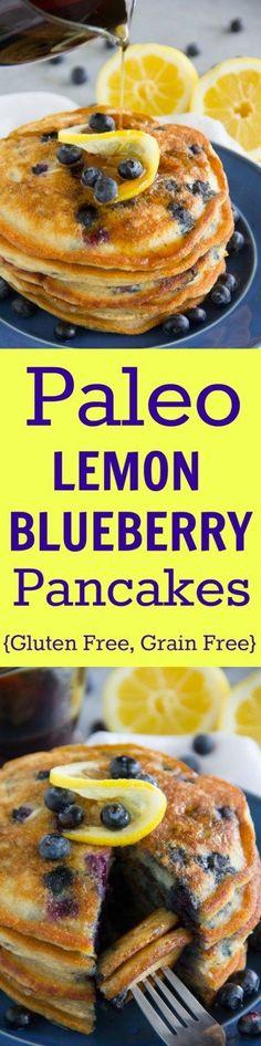 Paleo Lemon Blueberry Pancakes- increase juice to whole lemon