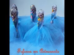Como Fazer Lembrancinha Tubete da Elsa Frozen, Anna Frozen e Branca de Neve Passo a Passo - YouTube