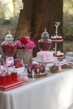 Valentine's dessert party table