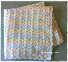 Linda's Crafty Corner: Little Treasure Baby Blanket Pattern. blanket is Preemie size = x size but can be easily adjusted by adding multiples of 6 + 1 for the starting chain. Crochet Baby Blanket Free Pattern, Baby Afghan Crochet, Crochet Quilt, Manta Crochet, Crochet Bebe, Baby Girl Crochet, Love Crochet, Crochet Patterns, Baby Afghans