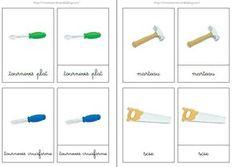 Les outils (Safari Ltd) : nomenclatures simples/images classifiées