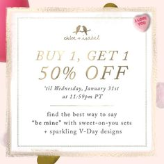 You still have plenty of time to shop Valentine's Day Gifts and have them delivered before the holiday. And right now you can save even more with our Buy 1 Get 1 50% Off Sale Through Midnight 1/31/18. Shop: www.chloeandisabel.com/boutique/thecelticpearl   #ValentinesDay #Valentines #Gifts #Presents #Sale #BOGO #HalfOff #Save #Big #Savings #Deals #Discounts #Jewelry #fashion #accessories #style #shopping #shop #trendy #trending #trends #trend #boutique #chloeandisabel #thecelticpearl…
