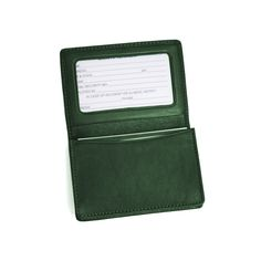 Royce Leather Business Card Holder, Adult Unisex, Green