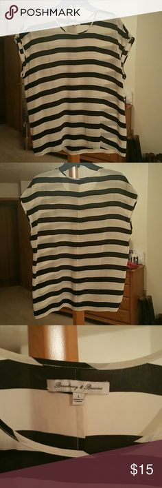 """Madewell """"Broadway & Broome"""" Silk Top Madewell silk striped top, great condition minus stitching starting to separate in the back/bottom, thus very discounted price. Madewell Tops Blouses"""