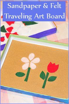 Gummy Lump Toys Blog: Sandpaper  Felt Traveling Art Board Craft for Preschoolers