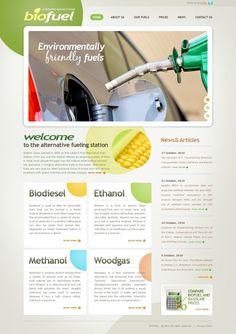Bio Fuels Website Templates by Oldman