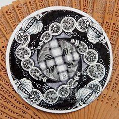 Zendala. #lilymoon #doodle #zentangle #inkart #zendala #mandala #shading…