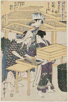 Utamaro_No. 4 from the series Women Engaged in the Sericulture Industry (Joshoku kaiko tewaza-gusa)