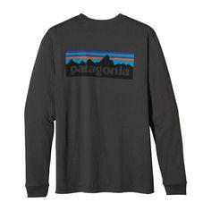 Patagonia Men\'s Long-Sleeved P-6 Logo T-Shirt - Forge Grey FGE-961