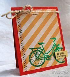 Happy Birthday Bike Card by Tenia Renee Nelson, via Flickr