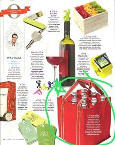 As seen in Oprah mag.....bottle bag carrier for 9 bottles,
