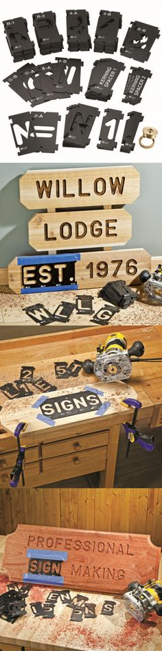 Routers 122829: Rockler Interlock Signmaker S Templates - State Park Font Kit, 2-1 4 -> BUY IT NOW ONLY: $39.99 on eBay!