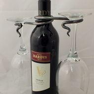 Hand Forged Wine Glass Holder - Blacksmith made
