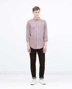 GINGHAM CHECK SHIRT - Shirts - MAN | ZARA United States