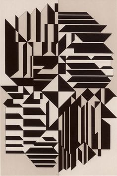 Victor Vasarely, Geminorum, 1956-59. Royal Art Museum, Brussels.