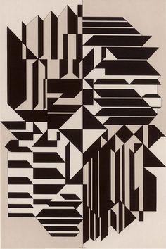 Victor Vasarely, Geminorum, 1956-59. Royal Art Museum, Brussels.