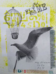 I have recently started art journaling here is a sample from my blog: http://www.playingwithmyphotos.blogspot.com/