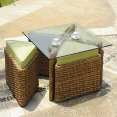 Retail $1299, Our Price $840. Outdoor Patio Furniture. South Sea Rattan Furniture w/ Sunbrella Fabric (Java- Sushi Chat Table).  www.wemakedirtlookgood.com  http://www.facebook.com/landscapelightinganddesign, http://www.facebook.com/southernlightsofnc, http://www.facebook.com& www.southernlightsofnc.com