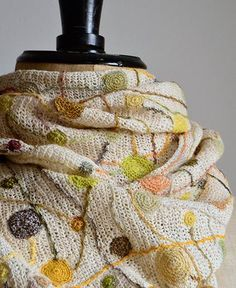 Sophie Digard / linen scarf large (4176/LIN/POLLEN) by Sophie Digard | petiteparis