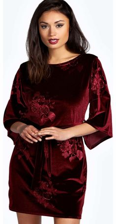 boohoo Steffi Embossed Velvet Batwing Dress - berry Look knock-out on nights out in figure-skimming bodycon fits, flowing maxi lengths and stunning sequin-embellished occasion dresses. This season make for satin sheen slip dresses in mink nudes, and ma http://www.comparestoreprices.co.uk/dresses/boohoo-steffi-embossed-velvet-batwing-dress--berry.asp