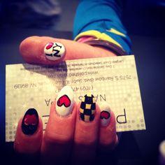 New York nails I love ny