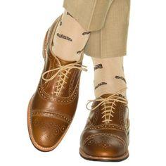Dapper Classics Tan with Coffee Brown Car Sock Linked Toe