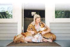 Mommy + Me Photoshoot, Dog Family Picture, Dog Mom, Dog Mama, Mommy and Me Photo… - Dog Photography Family Pictures Dog, Photos With Dog, Family Photos, Animal Photography, Family Photography, Lifestyle Photography, Front Porch Pictures, Mommy And Me Photo Shoot, Home Photo Shoots