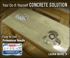 47 best diy concrete projects images on pinterest cement concrete learn how to make concrete countertops diy solutioingenieria Image collections