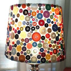 love this button lampshade