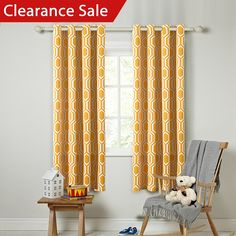 FlamingoP Light Blocking Honeycomb Insulated Blackout Drapes Printed Winter Curtains for Living Room, Grommet Top, Set of Two Panels, each 96 by 52- Orange -- Want to know more, click on the image. (This is an affiliate link) #WindowTreatments