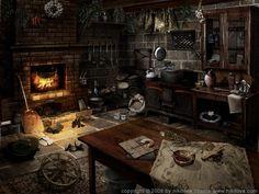 Sleepy Hollow Kitchen by kidy kat on deviantART Art Fantasy city Interior concept