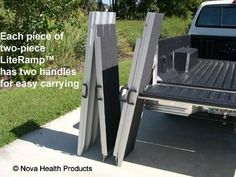 8 Foot Double Fold Literamp Detachable Portable Wheelchair Ramp by Literamp. $299.93. Double-fold Detachable Portable Ramps Allow for Increased Mobility with Double-Fold Wheelchair Ramps  Unlike traditional portable ramps, these portable, double-fold wheelchair ramps are not only foldable, but also detachable. This means less carrying weight and less storage size. After all, weightlifting is no fun for people with limited mobility.  These portable, double-fold handicap ramps are ...