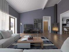 Moderne wohnzimmer wandgestaltung wohnzimmer - Wohnzimmeruhr modern ...