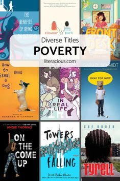 Children and teens all experience poverty differently, check out these nine middle grade and young adult titles to learn more. Book Club Books, Children's Books, Books To Read, Book Suggestions, Book Recommendations, Reading Lists, Book Lists, Bessie Coleman, Teen Library