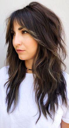 Fall Hair Cuts, Thin Hair Cuts, Haircuts For Thin Fine Hair, Long Thin Hair, Medium Hair Cuts, Medium Hair Styles, Long Hair Styles, Chubby Face Haircuts, Thin Hair Layers
