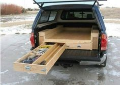 Truck drawers platform project. More Woodworking Projects on www.woodworkerz.com
