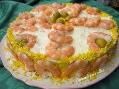 Cocinando para ellos : PASTEL DE LANGOSTINOS Y FELIZ DIA DE SAN JOSE