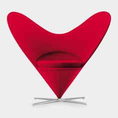 Buy online Heart cone chair by Vitra, fabric wingchair design Verner Panton, Cone collection Poltrona Design, Vitra Design, Chair Design, Metal Chairs, Side Chairs, Bar Chairs, Dining Chairs, Room Chairs, Skandinavisch Modern